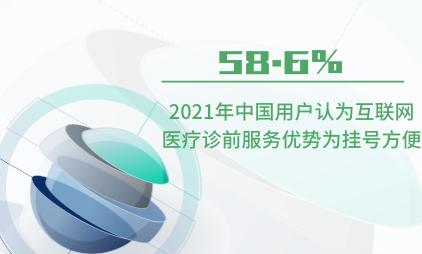 医疗行业数据分析:2021年中国58.6%用户认为互联网医疗诊前服务优势为挂号方便