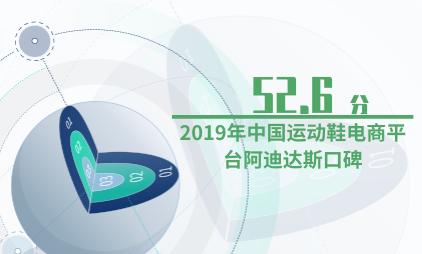 电商行业数据分析:2019年中国运动鞋电商平台阿迪达斯口碑为52.6分