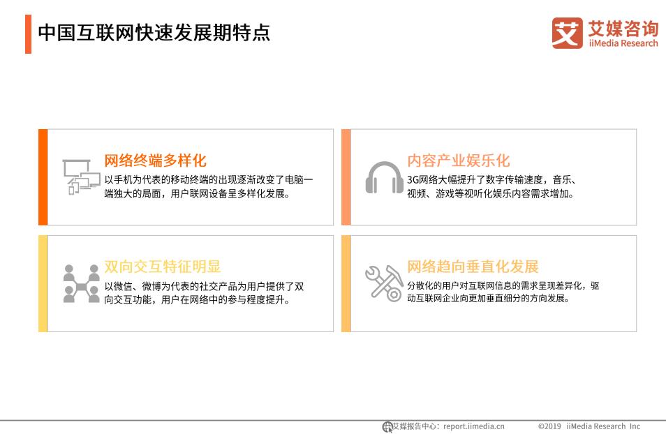 中国互联网快速发展期特点