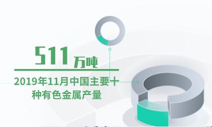 金属行业数据分析:2019年11月中国主要十种有色金属产量为511万吨