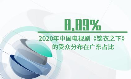 电视剧行业数据分析:2020年中国电视剧《锦衣之下》的受众8.89%分布在广东