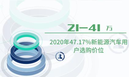 新能源行业数据分析:2020年47.17%新能源汽车用户选购价位在21-41万之间