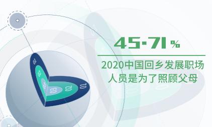就业市场数据分析:2020中国45.71%回乡发展职场人员是为了照顾父母