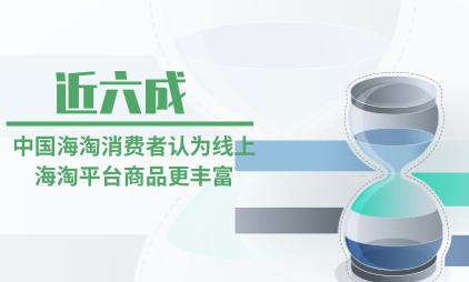 海淘行业数据分析:近六成中国海淘消费者认为线上海淘平台商品更丰富