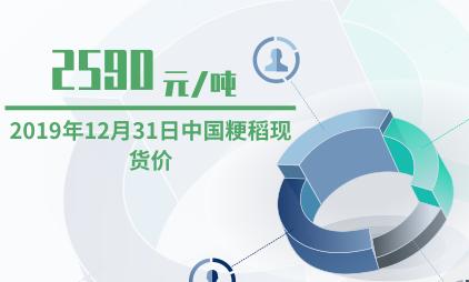 粮食行业数据分析:2019年12月31日中国粳稻现货价为2590元/吨