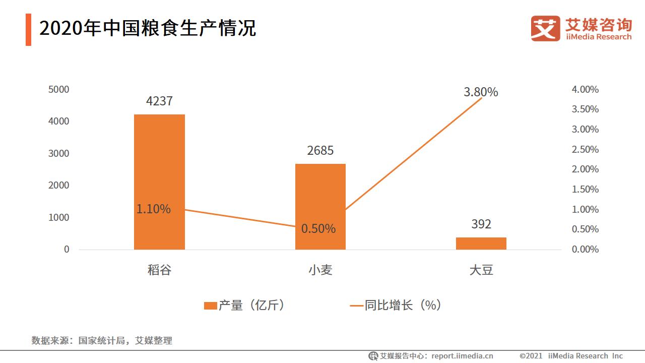 2020年中国粮食生产情况