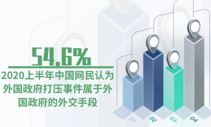 APP行业数据分析:2020上半年54.6%中国网民认为外国政府打压事件属于外国政府的外交手段