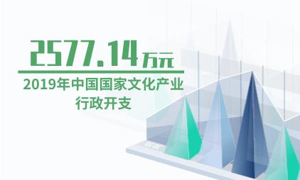 文化产业行业数据分析:2019年中国国家文化产业行政开支为2577.14万元