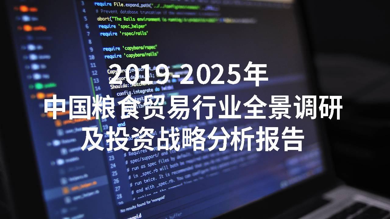 2019-2025年中国粮食贸易行业全景调研及投资战略分析报告
