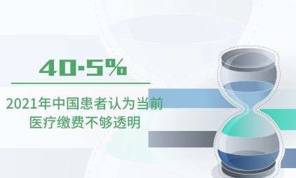 医疗行业数据分析:2021年中国40.5%患者认为当前医疗缴费不够透明