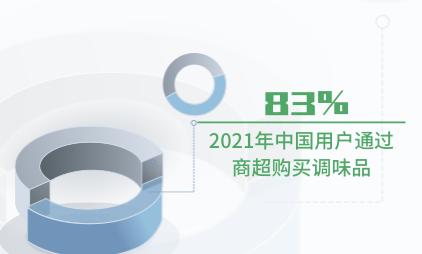 调味品行业数据分析:2021年中国83%用户通过商超购买调味品