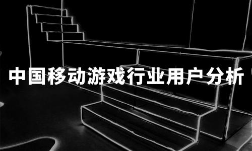 2020年中国移动游戏行业用户画像及行为洞察