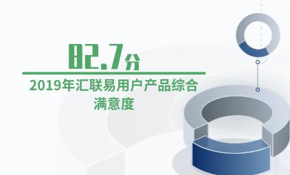 费控报销行业数据分析:2019年汇联易用户产品综合满意度为82.7分