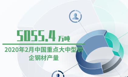 化工行业数据分析:2020年2月中国重点大中型钢企钢材产量降至5055.4万吨