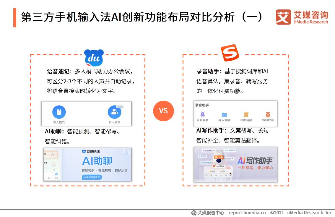 第三方手机输入法AI创新功能布局对比分析(一)
