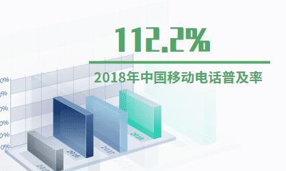 通信行業數據分析:2018年中國移動電話普及率為112.2%
