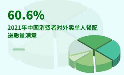 外卖行业数据分析:2021年中国60.6%消费者对外卖单人餐配送质量满意