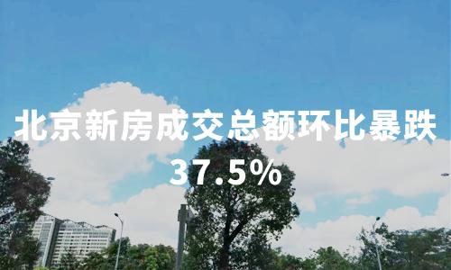 北京新房成交总额环比暴跌37.5%,2020中国房地产行业发展趋势分析