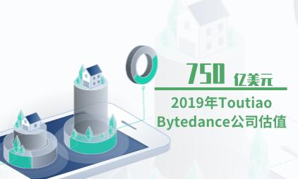 独角兽公司行业数据分析:2019年Toutiao Bytedance公司估值为750亿美元