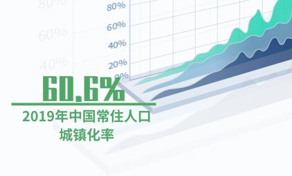 宏观经济数据分析:2019年中国常住人口城镇化率升至60.6%