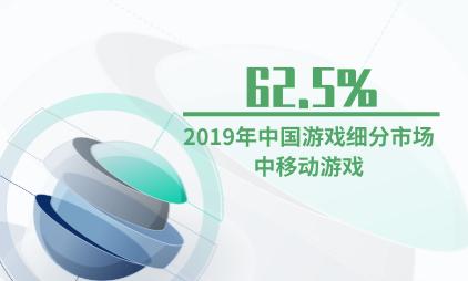 游戏行业数据分析:2019年中国游戏细分市场中移动游戏占62.5%