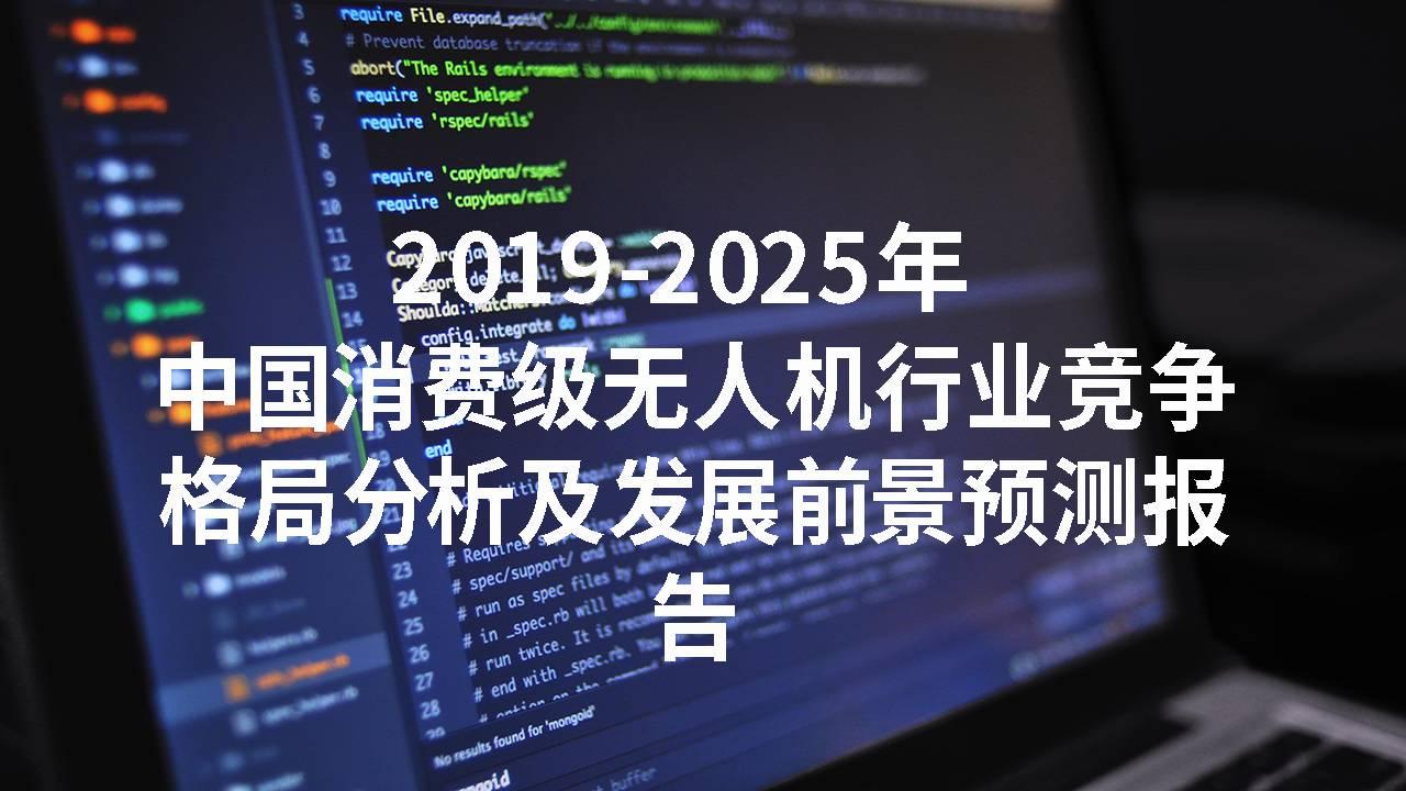 2019-2025年中国消费级无人机行业竞争格局分析及发展前景预测报告