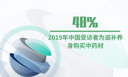 中药行业数据分析:2019年中国48%受访者为滋补养身购买中药材