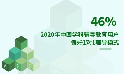 教育行业数据分析:2020年中国46%学科辅导教育用户偏好1对1辅导模式