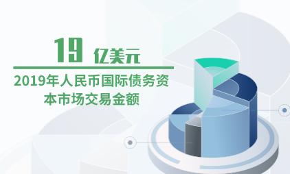 证券行业数据分析:2019年人民币国际债务资本市场交易金额为19亿美元