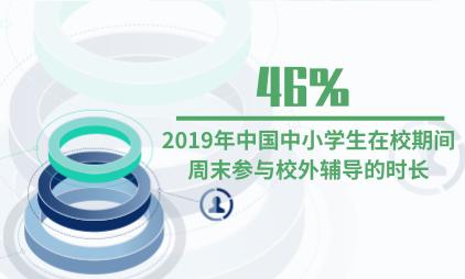 教育行业数据分析:2019年中国46%中小学生在校期间周末参与校外辅导的时长是日均2-4小时