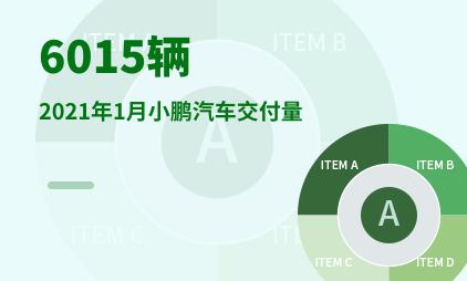 汽车行业数据分析:2021年1月小鹏汽车交付量为6015辆