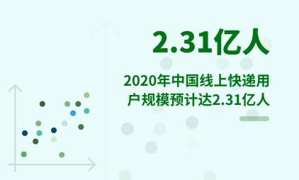 线上快递数据分析:2020年中国线上快递用户规模预计达2.31亿人