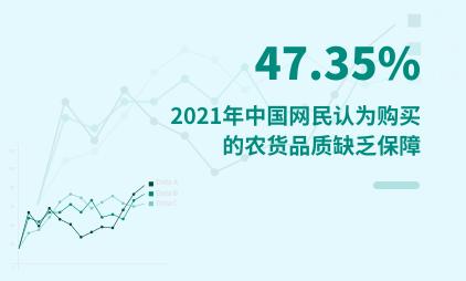 农货消费数据分析:2021年中国47.35%网民认为购买的农货品质缺乏保障