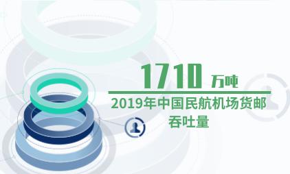 民航行业数据分析:2019年中国民航机场货邮吞吐量达1710万吨