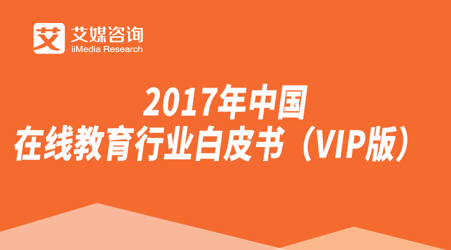2017-2018年中国在线教育行业白皮书(VIP版)