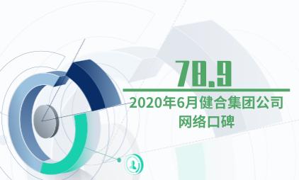 婴幼儿行业数据分析:2020年6月健合集团公司网络口碑为78.9