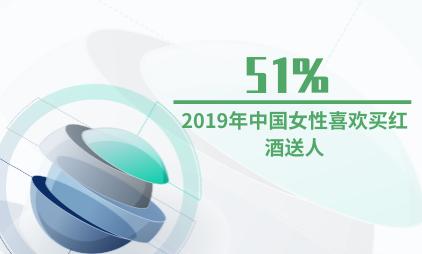 酒行业数据分析:2019年中国51%女性喜欢买红酒送人