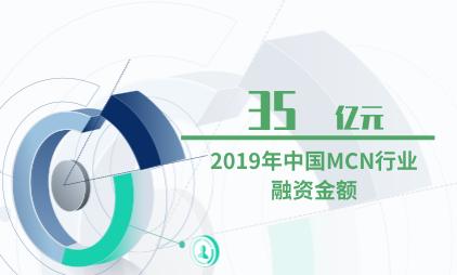 MCN行业数据分析:2019年中国MCN行业融资金额为35亿元