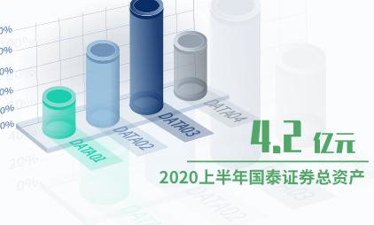 证券行业数据分析:2020上半年国泰证券总资产为4.2亿元