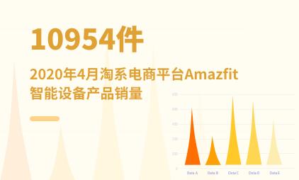 可穿戴设备数据分析:2020年4月淘系电商平台Amazfit智能设备产品销量共10954件