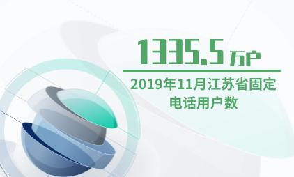电话行业数据分析:2019年11月江苏省固定电话用户数为1335.5万户