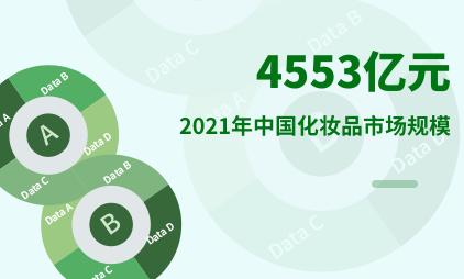 化妆品行业数据分析:2021年中国化妆品市场规模将达到4553亿元