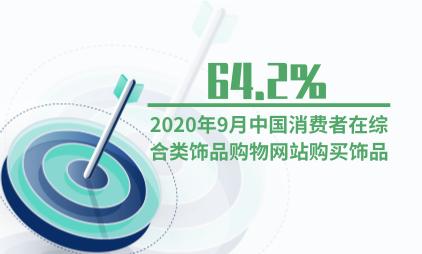 饰品行业数据分析:2020年9月64.2%中国消费者在综合类饰品购物网站购买饰品