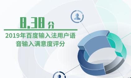 输入法行业数据分析:2019年百度输入法用户语音输入满意度评分为8.38分