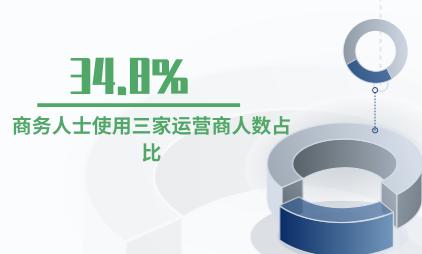 运营商行业数据分析:商务人士使用三家运营商人数占比为34.8%