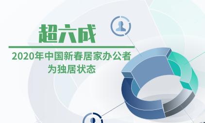 远程办公行业数据分析:超六成2020年中国新春居家办公者为独居状态