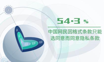 APP行业数据分析:中国54.3%网民因格式条款只能选同意而同意隐私条款