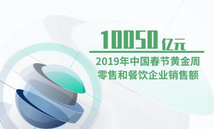 餐饮行业数据分析:2019年中国春节黄金周零售和餐饮企业销售额为10050亿元