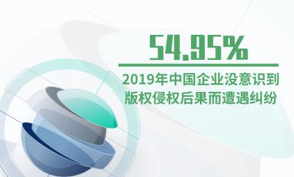 版权行业数据分析:2019年中国54.95%企业没意识到版权侵权后果而遭遇纠纷