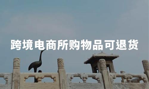 跨境电商所购物品可退货,2020中国跨境电商会如何发展?